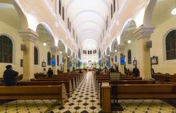 一群人祈祷的和平在清早 免版税库存照片