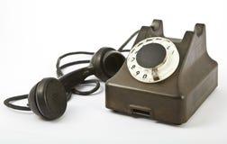 一老telephon 库存图片