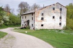 一老watermill 免版税图库摄影