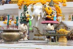 从一而终amarindradhiraja雕象 免版税库存照片