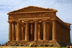 一致西西里岛寺庙 免版税库存照片