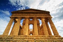一致西西里岛寺庙 图库摄影