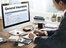 一般保险折扣表格信息概念 库存图片