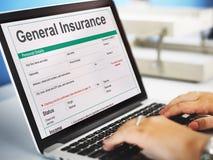 一般保险折扣表格信息概念 免版税库存照片