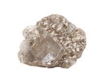 一般叫作岩盐或食用盐的Halite自然样品,在白色背景的氯化钠NaCl的矿物形式 库存照片