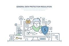一般数据保护章程 GDPR 密码secutiry,信息的机密 库存例证