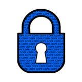 一般数据保护章程GDPR挂锁Clipart 免版税库存图片