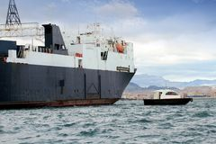 一般货物船 库存图片