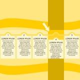 一般infographic在黄色树荫下 库存照片