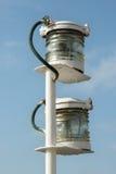 一艘古色古香的帆船的葡萄酒灯笼 库存照片