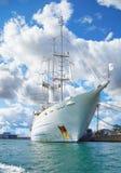 一艘大帆船在哥本哈根港口  库存照片
