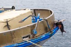 一艘捕鱼船的细节 图库摄影