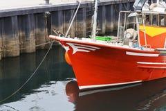 一艘捕鱼船的细节 免版税库存图片