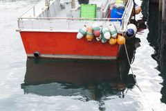 一艘捕鱼船的细节 免版税图库摄影