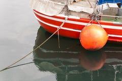 一艘捕鱼船的细节 库存照片