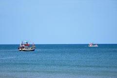 一艘捕鱼船 库存图片