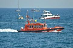 一艘救生艇 免版税库存图片