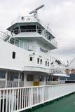 一艘渡轮在挪威 免版税库存图片