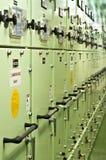 一艘特大号船的控制室 免版税库存图片