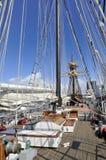 一艘老船在圣地亚哥 库存照片