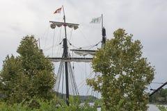 一艘高船的帆柱 库存照片