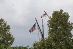 一艘高船的帆柱 库存图片