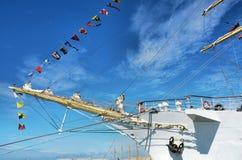 一艘高船的弓 库存照片