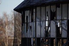 一被放弃的圆形建筑 库存照片
