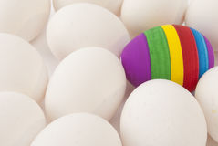 一被绘的复活节彩蛋 库存照片