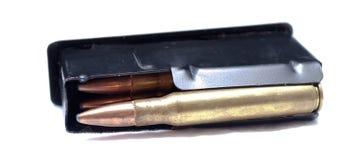 一被装载的30 06杆步枪杂志 免版税库存照片