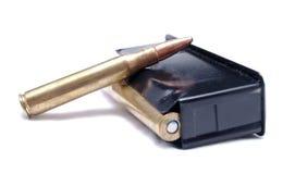 一被装载的30 06杆步枪杂志 免版税库存图片