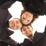 一起三个新企业人员 免版税库存照片