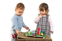 一起儿童游戏 免版税库存照片