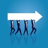 一起到达成功的企业配合 库存例证
