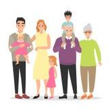 一起大家庭 免版税库存图片