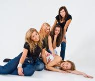 一起女性朋友 免版税库存照片