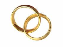 一起婚姻的金戒指 库存图片