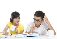 一起家庭作业 库存图片