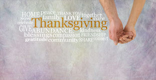 一起庆祝感恩 免版税图库摄影