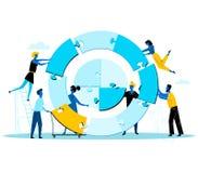 一起建立巨大的圆的难题的买卖人 库存例证
