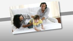 一起显示富感情的家庭的动画获得乐趣 影视素材