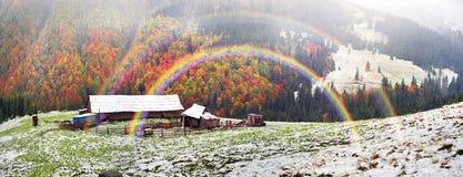 一起秋天和冬天 库存照片