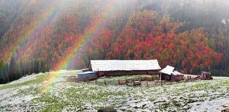 一起秋天和冬天 图库摄影
