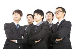 一起站立亚洲企业的队 免版税图库摄影