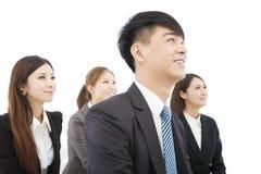 一起站立年轻亚洲企业的队 免版税库存照片