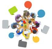 一起群策群力小组不同的人民 免版税库存照片