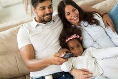 一起花费时间的愉快的家庭的图片 库存图片