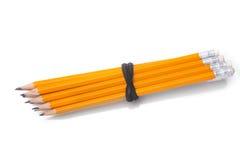 一起被束起的石墨铅笔 免版税图库摄影