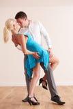 一起跳舞热情的夫妇 库存图片