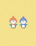 一起逗人喜爱的企鹅 皇族释放例证